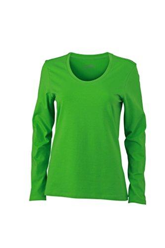 JAMES & NICHOLSON Donna T-shirts a manica lunga da jersey elastico morbido lime-green