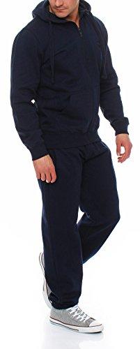 Gennadi Hoppe Herren Jogginganzug Trainingsanzug Sportanzug Freizeitanzug Hausanzug Blau
