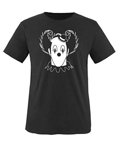Comedy Shirts - Halloween Clown - Jungen T-Shirt - Schwarz/Weiss Gr. 152-164