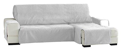 Eysa Italia Zoco Chaise Longue Destra Vista Frontale, Poliestere-Cotone, Bianco, 290 cm