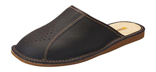 Hommes confort chaussons pantoufles Veritable Peau de vache naturel