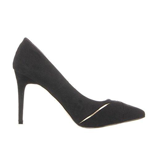 Damen Schuhe PUMPS ELEGANTE HIGH HEELS sexy Stiletto 36 - 41 Schwarz