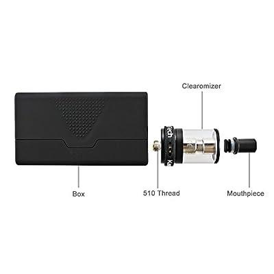 B1 Box-Mod 60W E Zigarette Starterset mit Verdampfkopf 0.15 ohm, OLED-Anzeige, Temperaturkontrolle, und Akkuträger mit ohne 18650 Batterie 0,0 mg Nikotin, 1 Stück von IMECIG