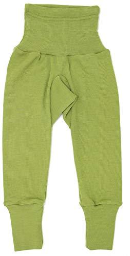 Cosilana Baby Hose lang mit Bund, Größe 98/104, Farbe Grün - Vertrieb durch Wollbody®GmbH (Kinder-seiden-unterwäsche)