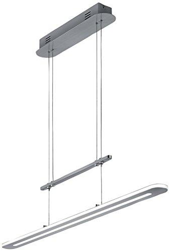 Trio Leuchten LED JoJo-Pendelleuchte, Metall, Integriert, 18 W, Nickel Matt, 6 x 90 x 160 cm