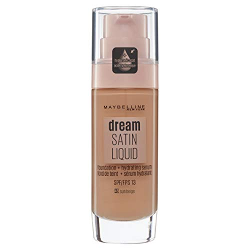 Maybelline Dream Satin, Fondotinta liquido, 048 Sun Beige, 30 ml