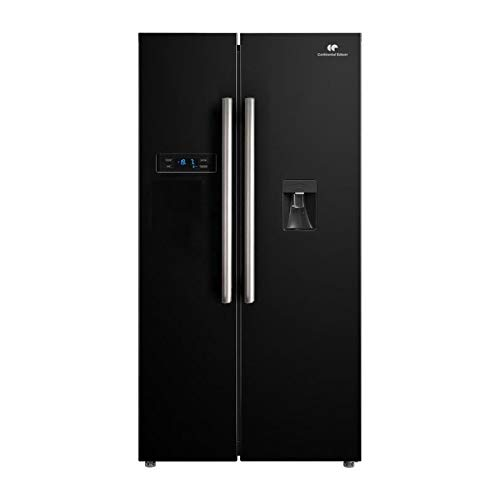 Continental edison - réfrigérateur américain-525 l (348 + 177)-no Frost-a+-l 89,5 x h 178,5 cm-Noir-Distributeur d'eau Autonom
