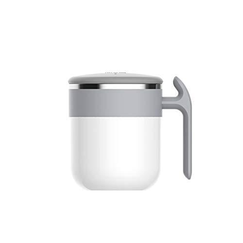 HYwot Auto-Magnet-Rührbecher, 300 Ml Rührkaffeetasse, Keine Gebühr Erforderlich, Milchspinnbecher Mit Schneller Abkühlung,White -