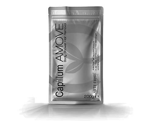 200g Capillum AMOVE mit Thymian Einzel-Beutel [Für empfindliche Haut] - Haarentfernungscreme Pulver mit natürlichen Kräutern für Mann & Frau
