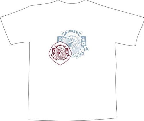 T-Shirt E319 Schönes T-Shirt mit farbigem Brustaufdruck - Logo / Grafik - abstraktes Design / Skateboard Ornament / musik Breakdance Weiß