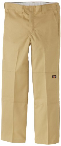 Dickies - - QP200 Jungen Flexwaist Double Knee Multi-Use-Pocket Pant, 12 Husky, Desert Sand - Dickies Multi-use Pocket