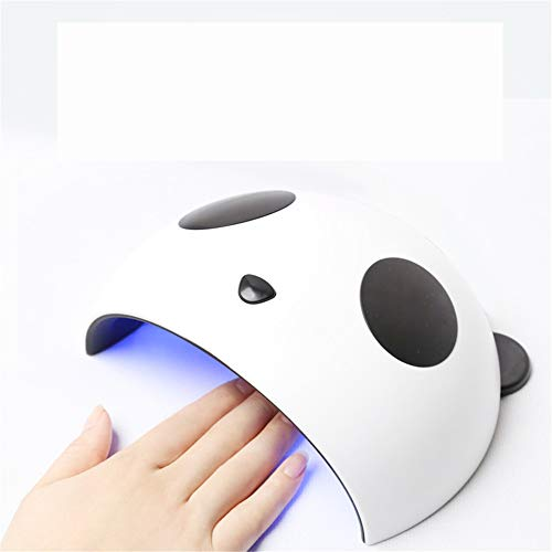 JUZHEN 36W Nagel-Phototherapie-Maschine UV-LED-Nageltrockner-Nagelöl-Backlampenwerkzeug, niedlicher Schwarzweiss-Modellierungsnagellacktrockner