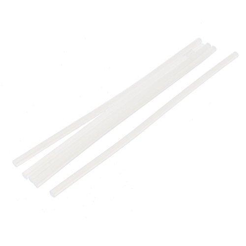 sourcingmap® 5 Pz 7mm Dia 27cm Lunghezza Hobby Modelli Plastica Calda Sciogliere Colla Adesivi