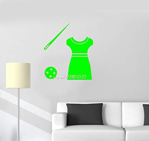 zqyjhkou Atelier su Misura Adesivi murali in Vinile Abbigliamento Design di Moda Decalcomanie da Muro di Arte Carta da Parati Impermeabile Rimovibile Poster murale 4 57X66cm