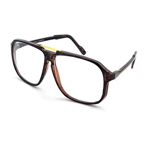 Kiss Brillen in neutralen mod. MCQUEEN CULT - mann frau MOVIE STAR optischen rahmen VINTAGE flieger-stil - HAVANNA
