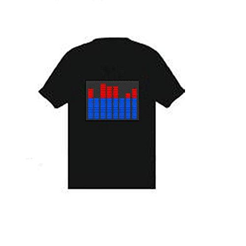 Classic equalizzatore equilibrio Chart al suono Equalizzatore el lampeggiante maglietta Black XL