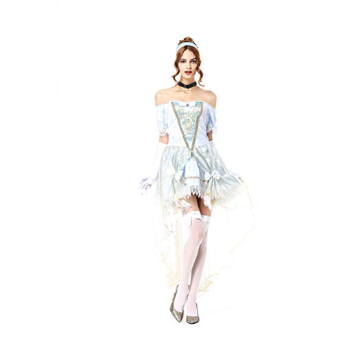 YRE Adult Schneewittchen Performance Rock, Märchen Cinderella Queen Performance Cosplay Bühnenkleid, Halloween-Kostüm - Halloween-make-up Cinderella
