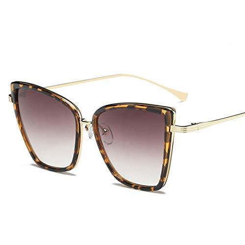 Wenkang Big Cat Eye Sonnenbrille Frauen Schwarz Spiegel Sonnenbrille Modedesigner Hochwertige Vintage Sonnenbrille,A2
