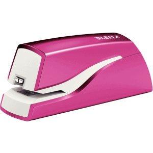 Leitz Heftgerät Wow elektrisch 10 Blatt pink