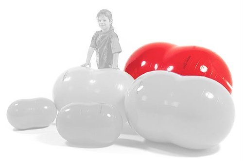 Physiotherapy Physio Roll 85 Ball in Red by Gymnic (Ball Tmi)