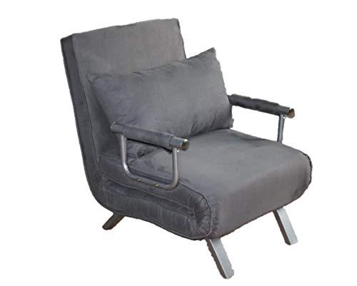Italfrom divano letto sofa bed grigio 67x69x83h divanetti divano letto 1 piazza - cod.4034