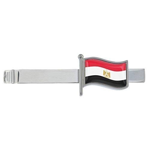 Ägypten gewellte Flagge rhodiniert clip-krawatte in Geschenkbox