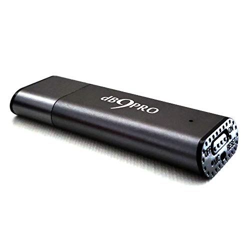 AUFNAHME GERÄT DIKTIERGERÄT MINI mit USB [Grau] von dB9PRO - 8GB / 48 Stunden Kapazität Audio Recorder -mit Mikrofon! Voice Activated Recorder mit E-Book! VERPASSEN SIE NIE WIEDER EIN WORT!