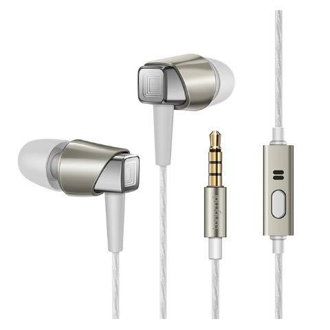 CBTJ In-Ear-Kopfhörer Tri-Band-Entzerrung HiFi Stereo Bass Universal Sport-Ohrhörer mit Fernbedienung Mikrofon verdrahtet 3,5 mm für Android IOS,Gold