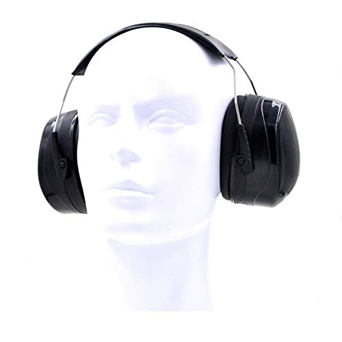 Geräuschreduzierender Gehörschutz Ohrenschützer Defender Erwachsene SNR35db / NRR30db Rauschunterdrückung Ohrenschützer mit Upgrade einstellbarem Kopfband Teen Double Noise Baldachin für Arbeit, Schie