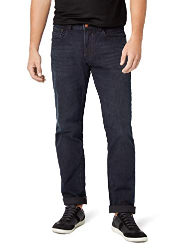 Camel Active Herren 5-Pocket Houston Straight Jeans, Blau (Blue/Black Used 43), W40/L30 -
