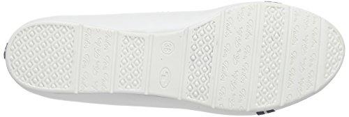 TOM TAILOR Damen Damenschuhe Geschlossene Ballerinas Weiß (white)