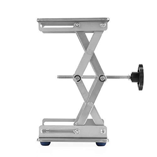 """6""""Edelstahl Jack Stand Scherenlabor Hebebühne/Faltbare Hubtisch Pad 150 * 150 * 250mm für Wissenschaftliches Experiment"""