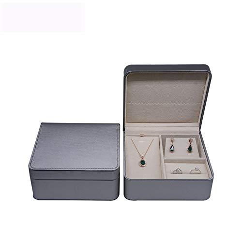 WUIO Schmuck Organizer, High-End-Schmuck-Aufbewahrungsbox Ohrringe Ring Halskette