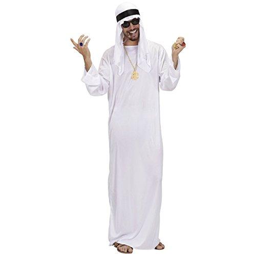 Arabischer Scheich Gr. XL + Kette Kostüm Emir Karnevalskostüm Fürst