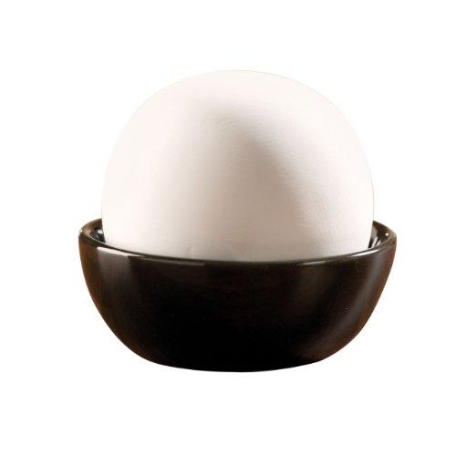 Wenko 52592100 Rondo - Humidificador pequeño de cerámica (Ø 9 x 8 cm), colores blanco/negro