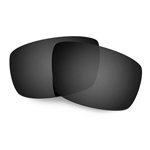HKUCO Plus Mens Replacement Lenses For Spy Optic Logan Sunglasses Black Polarized