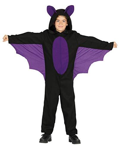 (Horror-Shop Fledermaus Onsie Kinderkostüm mit Flügel & Kapuze XL)