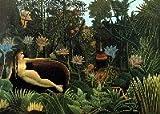 Postkarte HENRI ROUSSEAU 3-D Lenticular, Wackelbild, ideal als Geschenk zum Geburtstag oder Weihnachten
