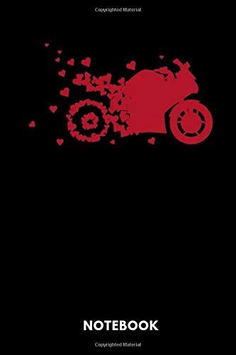 Notebook: Notizbuch für Motorrad Fahrer und Fahrlehrer Love Design.