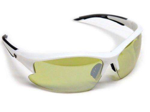 NAVIGATOR Viper Sport- u. Freizeitbrille, Wechselgläser auch geeignet als Fahrrad- Ski- und Motorradbrille, mit UV400 Standard (Sonnenbrille) und rutschfesten Silikonbügeln für Laufsport/Laufbrille