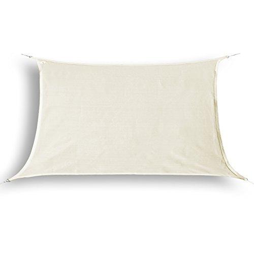 hanSe® Marken Sonnensegel Sonnenschutz Segel Rechteck 2x3 m Creme