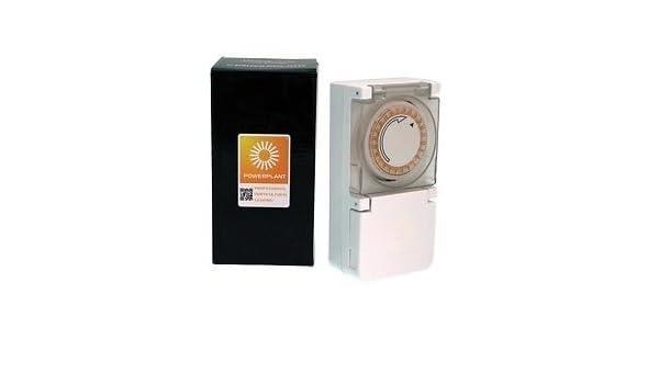 PowerPlant 24hr Heavy Duty Lighting Hydroponic Plug in /& Grow Contactor Timer
