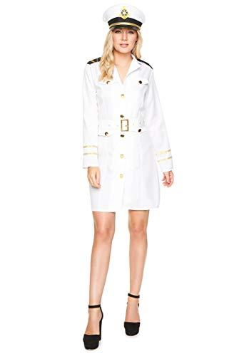 Karnival 81059Navy Officer Girl Kostüm, Frauen, weiß, extra klein