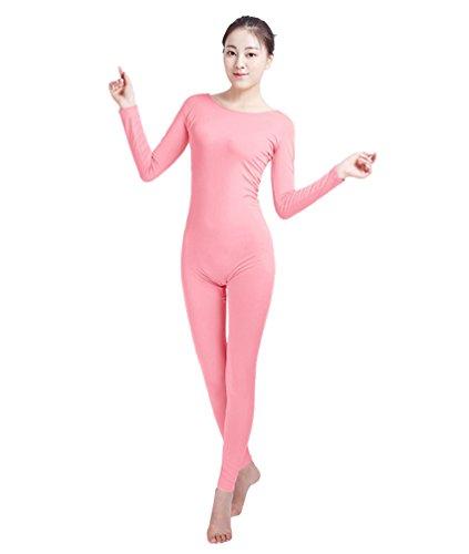 NiSeng Erwachsener und Kind Zentai Ganzkörperanzug Kostüm Ganzkörperanzug Fasching Bodysuit Kostüm Rosa - Rosa Bodysuit Kostüm