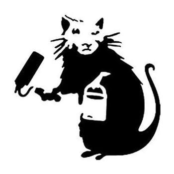 Pf/örtner Ratten A4 Blatt Gr/ö/ße // Heim Dekoration Kunst malen Schablone BANKSY RATTE Schablone Design 13x26cm