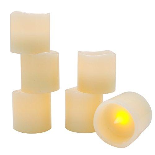 Eldnacele Batterie Teelichter mit Timer, Echtwachs flammenlose Kerzen Teelichter 6 Stunden auf und 18 Stunden aus in 24 Stunden Zyklus automatisch mit 12 CR2032 Batterien für die Heimtextilien