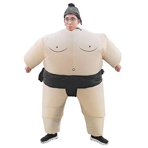 cicianco Aufblasbare Sumo Wrestler Anzüge für Erwachsene Wrestling Fancy Outfit Halloween Kostüm Einheitsgröße (L, Schwarz)