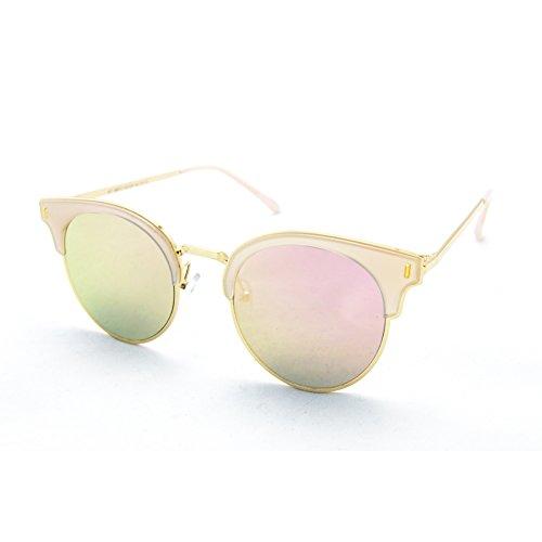 Gafas de Sol para Mujer XD Panda, Color de Lente Rosa/Espejo, Montura