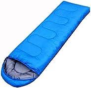 Outdoor camping summer camping sleeping bag lunch 200g envelope hooded sleeping bag blue