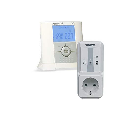 Mi-Heat Watts Vision Programmierbares Thermostat mit 1x Steckdosenempfänger Set